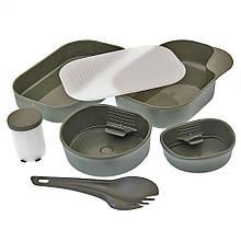 Набор посуды  пластиковый 7 предметов MIL-TEC Wildo OD, 14671000