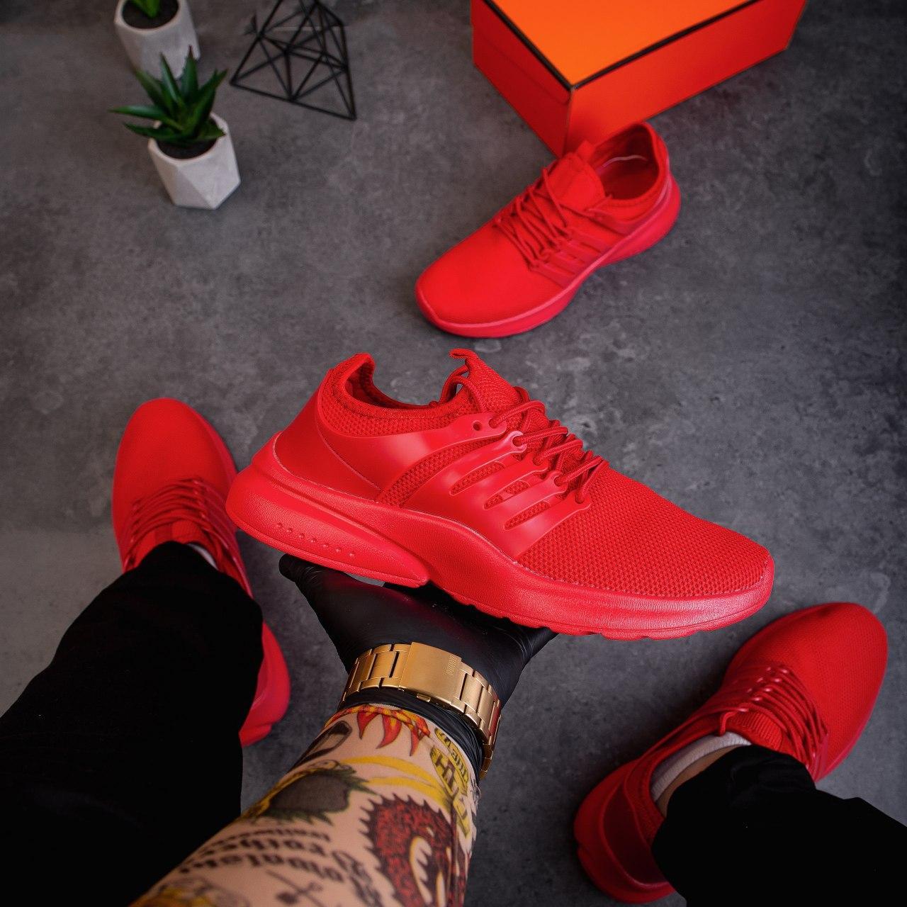 Мужские кроссовки Престо (красные)