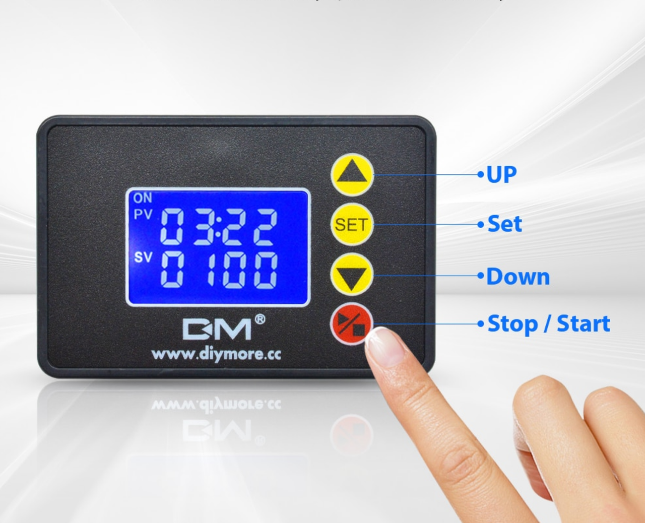 Цифровое реле времени 220В 10А, Реле задержки времени, Электронный таймер, ЖК дисплей