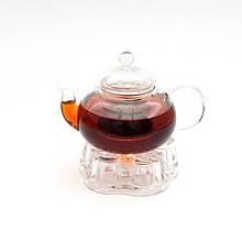 Чайник стеклянный. Подставка для чайника. Набор.