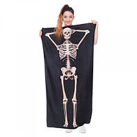 Пляжний рушник Skeleton з мікрофібри 140х70 см (GIPS), фото 1