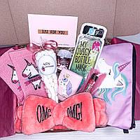 """Подарочный бокс для девочки девушки Wow Boxes """"Unicorn Box #15"""""""