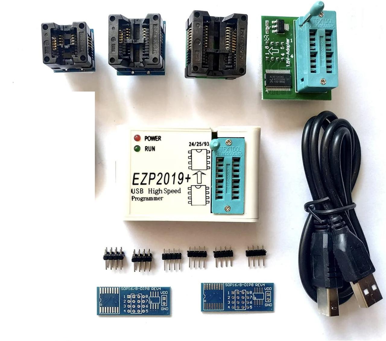 Программатор микросхем EZP2019 в комплекте с 6 адаптерами
