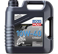 НС-синтетичне моторне масло для 4-тактних мотоциклів Liqui Moly Motorbike 4T Street 10W-40 4л 7512
