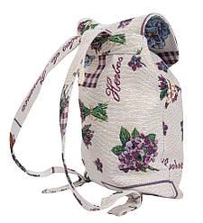 Стильный легкий детский рюкзак гобелен 25х37х6