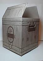 Коробка бурая  10L (КУБ) bag in box печать 1 цвет (по заказу клиента)