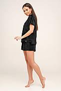 Черная пижама велюр плюш на хлопковой основе Orli, фото 2