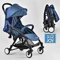 Детская прогулочная коляска JOY W 5530 Синий | Легкая коляска для путешествий