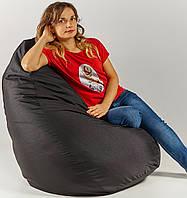 Кресло мешок пуфик груша черное XL 120х85 см