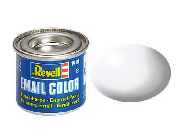Біла шовково-матова. Фарба емалева, 14 мл. REVELL 32301, фото 2