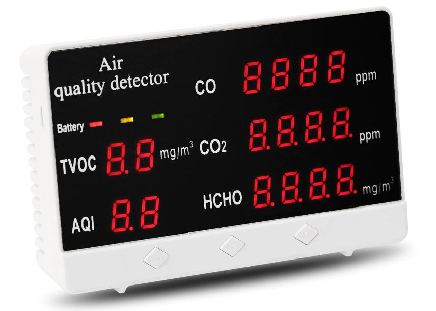 Индикатор анализатор качества и загрязненности воздуха