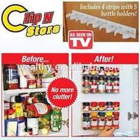 Органайзер для кухонного шкафа навесные полочки для специй Kitchen Clip N Store
