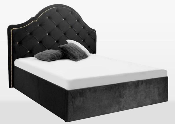 """Мягкая кровать Jennifer 180*200 с подъемным механизмом велюр черный  ТМ """"Миро Марк"""", фото 2"""