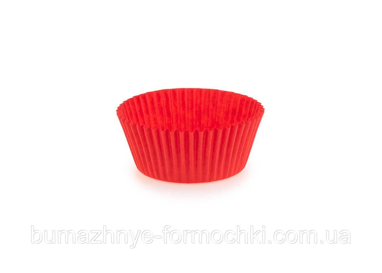 Одноразові червоні формочки для випічки кексів, 40х24 мм
