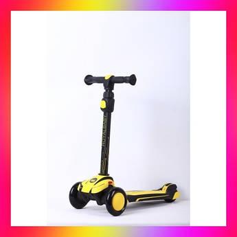 Детский городской самокат Royal Baby Suspension с подсветкой колеса Желтый