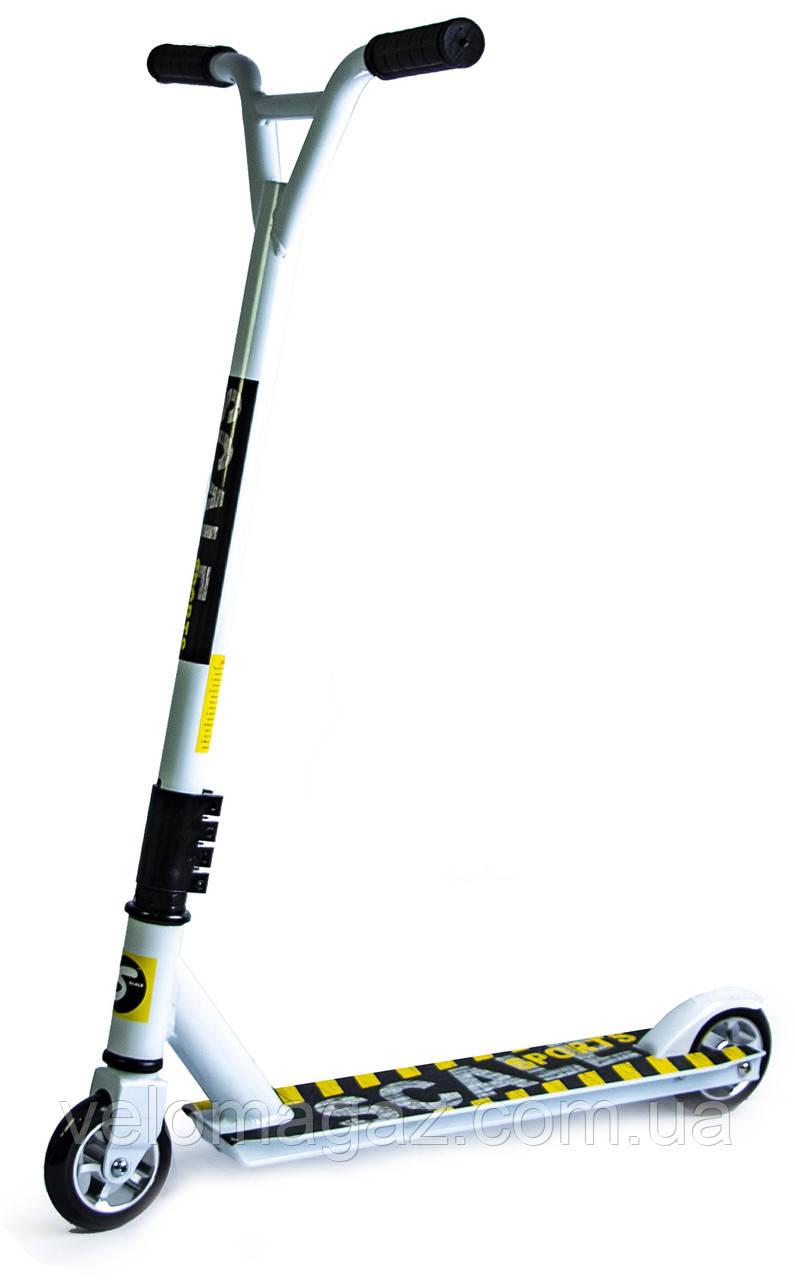 Трюковый самокат Scale Sports Extreme Abec-11 белый