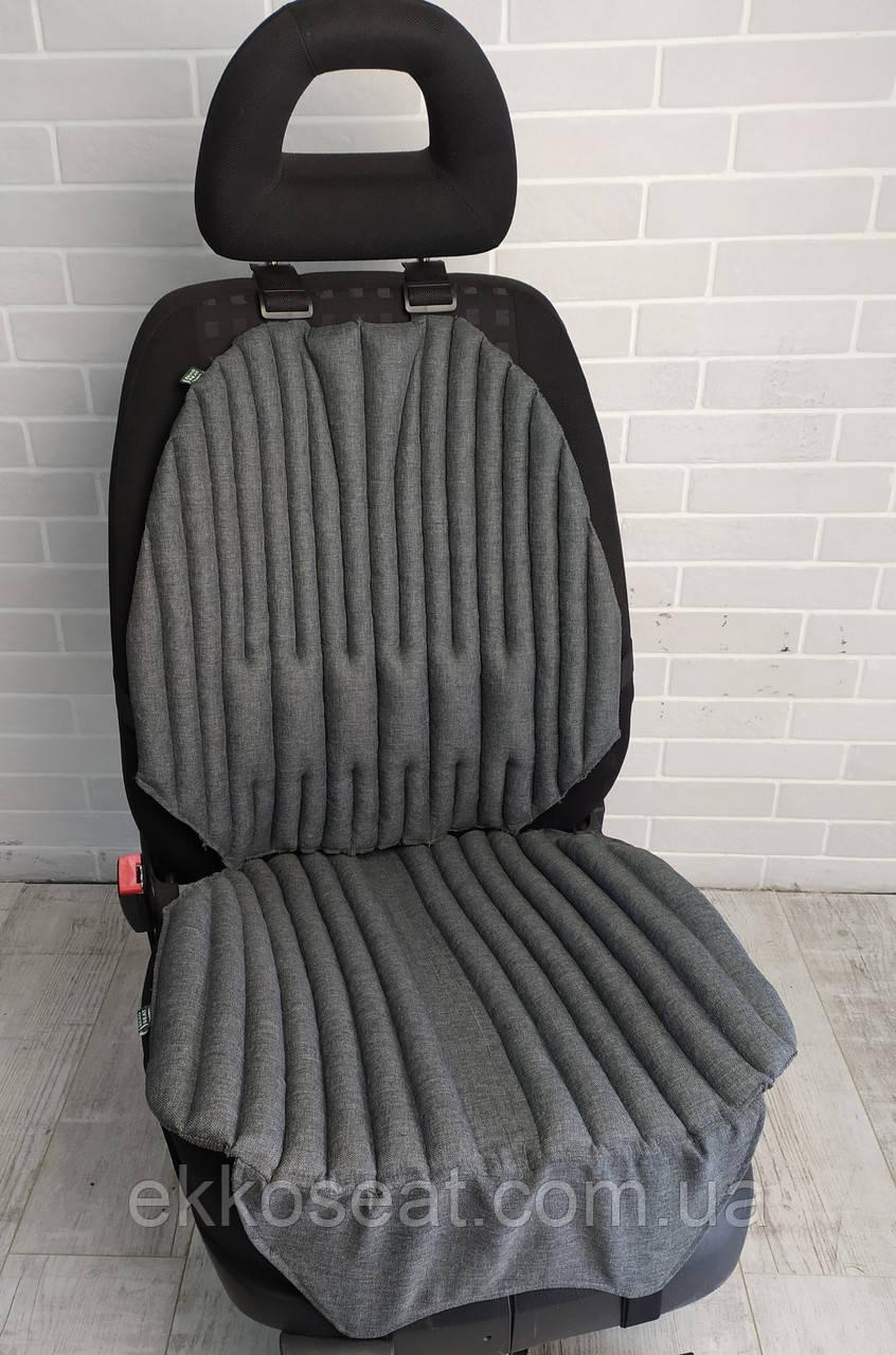Ортопедичні подушки, накидки EKKOSEAT для сидіння на автомобільне крісло. Чорна, сіра, бежева. БІО.