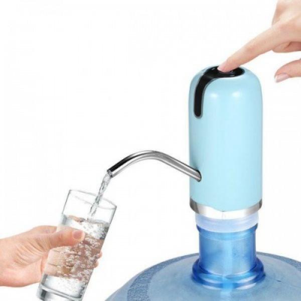 Электрическая аккумуляторная помпа для воды Charging Pump C60 Голубая  (RZ008)