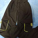 Костюм спортивный супермодный красивый нарядный оригинальный чёрного цвета с яркими надписями для девочки., фото 4