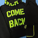 Костюм спортивный супермодный красивый нарядный оригинальный чёрного цвета с яркими надписями для девочки., фото 2