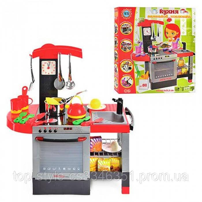 Дитяча ігрова кухня зі звуковими ефектами з посудом і аксуссуарми