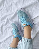 """Кроссовки Nike Air Force 1 White blue """"Голубые/Белые"""", фото 3"""