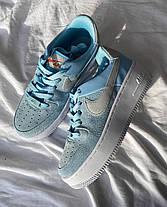 """Кроссовки Nike Air Force 1 White blue """"Голубые/Белые"""", фото 2"""