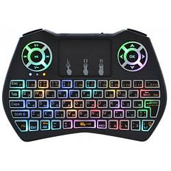 Беспроводная русская клавиатура Rii i9 2.4G с RGB подсветкой
