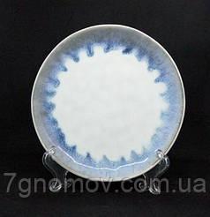 Набор 6 керамических тарелок белых с фиолетовым Лаванда 21 см