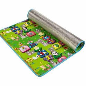 Детский односторонний игровой коврик Парк развлечений 90х150 см (NJ-10)