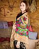 Украинский женский платок кофейного цвета (120х120см, кофейный, 100%-акрил)
