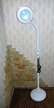 Лампа лупа на штативе напольная с 120 LED диодами,регулировкой света , с крышкой.