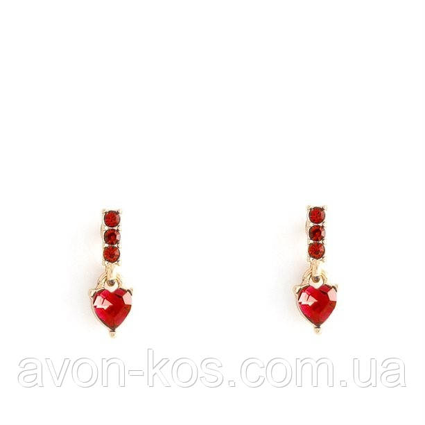 Сережки з сердечками «Єва»