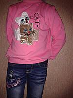 Батник детский теплый на девочку 98-116