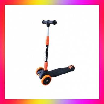 Детский городской самокат Royal Baby Archer с подсветкой колес Оранжевый