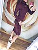 Сукня в високим коміром і лампасами з ангори софт, фото 2