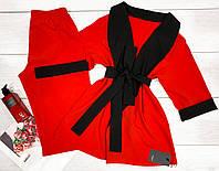 Піжама піджак і штани з мармурового велюру 046-1 пінк.