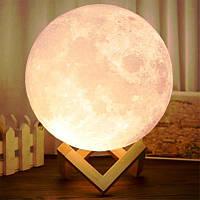 Светильник сенсорный луна 17 см на аккумуляторе 3D Moon Lamp детский ночник луна Moon Light 5 режимов