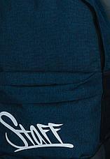 Класичний рюкзак міський темно-синій Staff 25L navy logo - CBS0657, фото 3