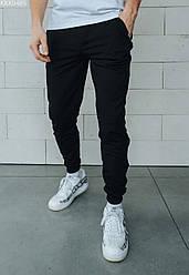 Спортивные штаны мужские черные Staff black basic свободные - KKK0485