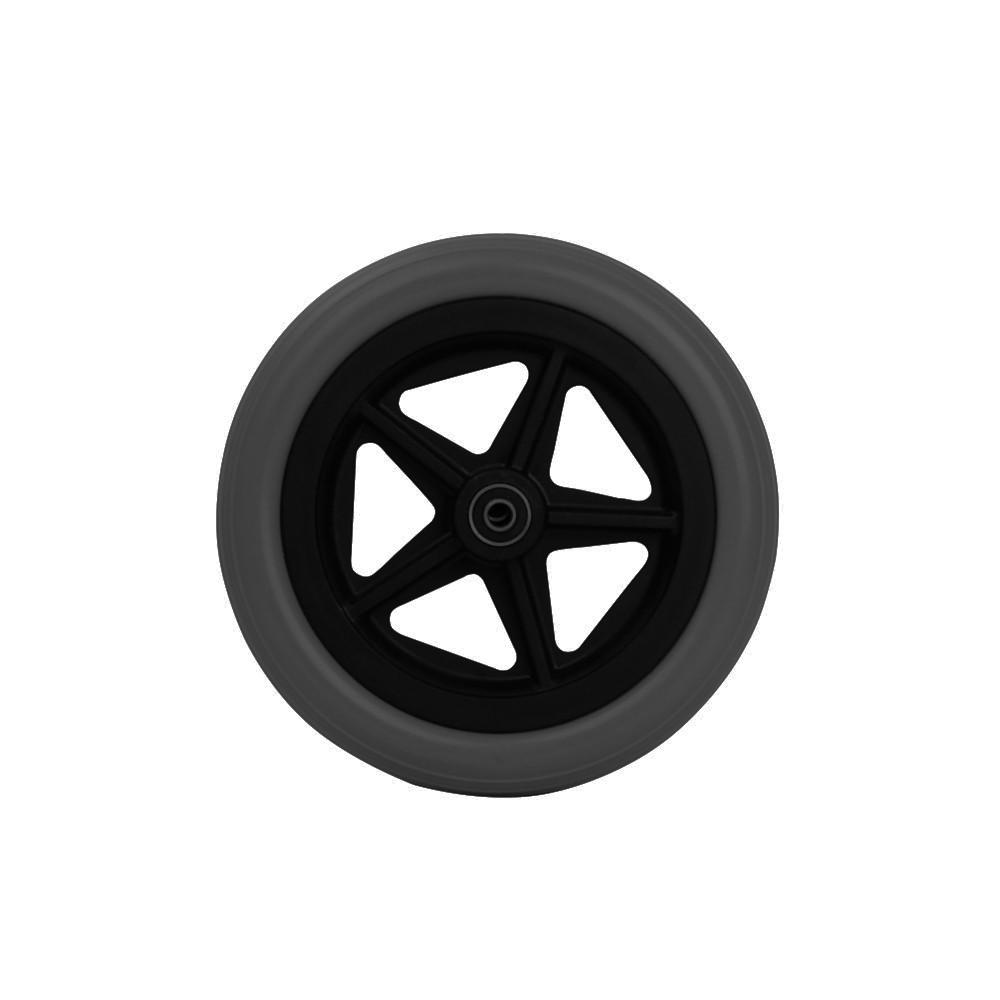 """8"""" переднее черное колесо QL08-009"""