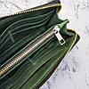 Кожаное портмоне на молнии, клатч мужской, женский, фото 3