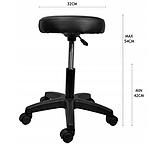 Табурет стілець хокер косметичний Callisimo Promos чорний, фото 4
