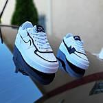 Женские кроссовки Nike Air Force 1 Shadow (белые с черным) 20205 повседневные демисезонные кроссы, фото 2