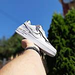 Женские кроссовки Nike Air Force 1 Shadow (белые с черным) 20205 повседневные демисезонные кроссы, фото 3