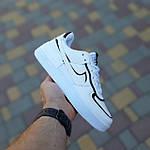 Женские кроссовки Nike Air Force 1 Shadow (белые с черным) 20205 повседневные демисезонные кроссы, фото 4