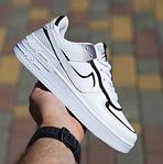 Женские кроссовки Nike Air Force 1 Shadow (белые с черным) 20205 повседневные демисезонные кроссы, фото 5