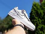 Женские кроссовки Nike Air Force 1 Shadow (белые с черным) 20205 повседневные демисезонные кроссы, фото 6