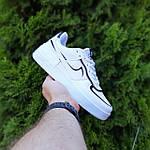 Женские кроссовки Nike Air Force 1 Shadow (белые с черным) 20205 повседневные демисезонные кроссы, фото 8