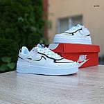 Женские кроссовки Nike Air Force 1 Shadow (белые с черным) 20205 повседневные демисезонные кроссы, фото 10